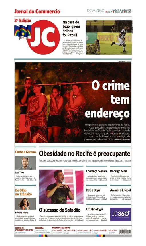 Capa do Jornal - 30/04/2017