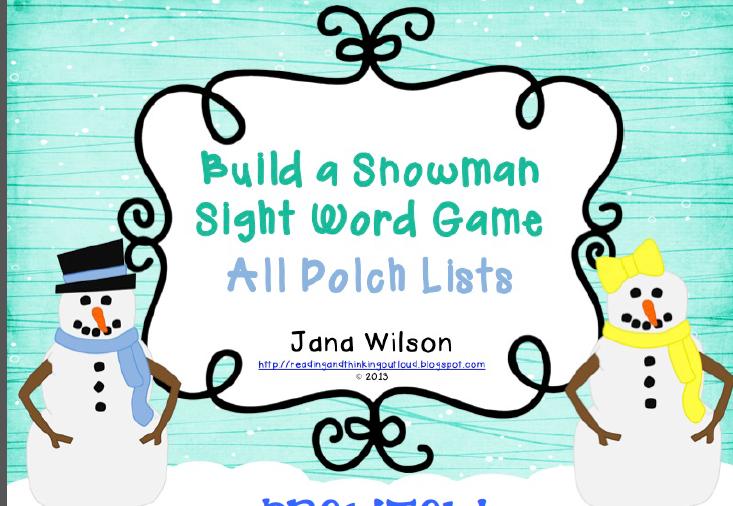 http://www.teacherspayteachers.com/Product/Build-a-Snowman-Sight-Word-Game-All-Lists-989321