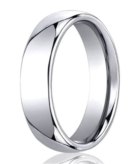 Men's Designer Cobalt Chrome Wedding Ring with Domed Profile