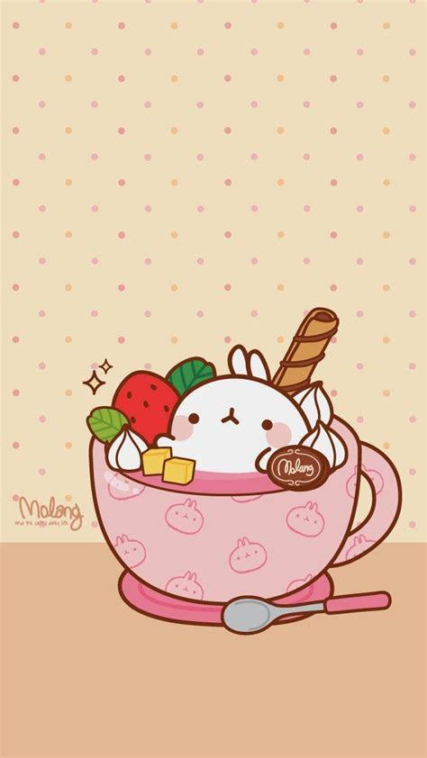 molang strawberry pink teacup sweets kawaii stuff