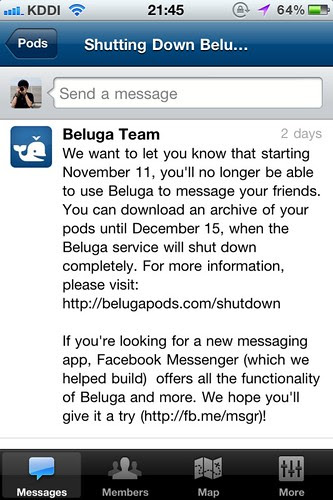 Beluga shutdown