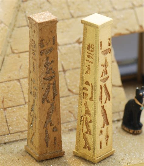 1:48 Set of 2 Egyptian Pillars   Stewart Dollhouse Creations