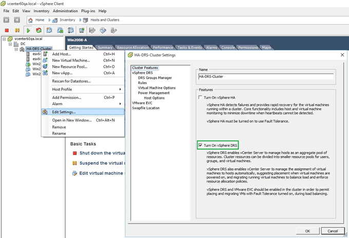 How to Setup VMware DRS – Distributed Resource Scheduler