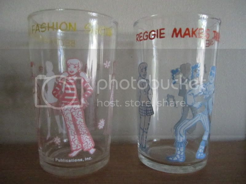 thrift finds archie comics jelly jars