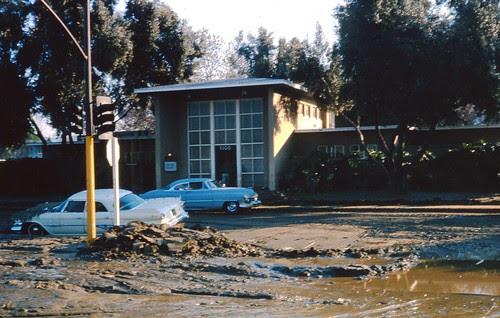 Administration Building - Baldwin Hills Village after Baldwin Hills dam break Dec  1963 by srk1941