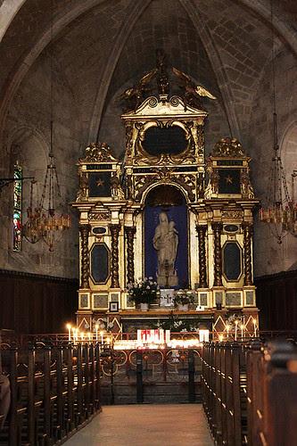 Inside the Chapelle Notre Dame de Beauvoir in Moustiers-Sainte-Marie, France