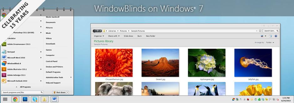 WindowBlinds on Windows 7