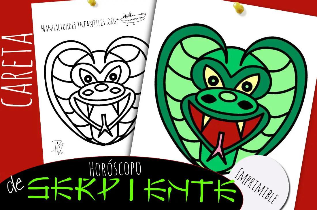 Mascara De Serpiente Del Horóscopo Chino Actividades Para Niños