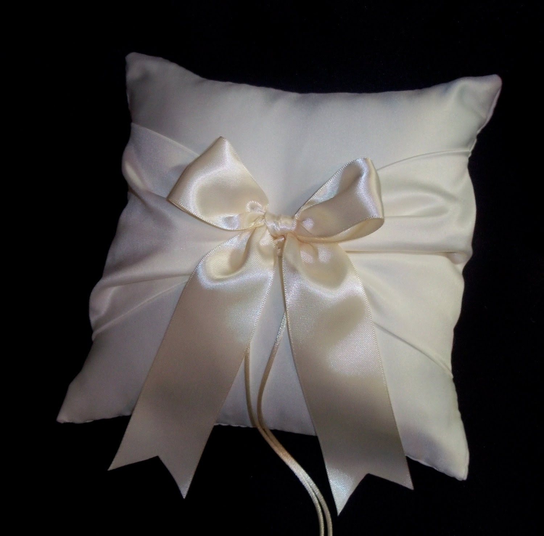Ivory Wedding Ring Bearer Pillow