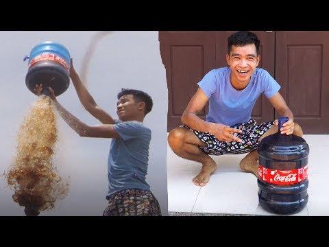 PHD | Thử Nghịch Tên Lửa Cocacola Khổng Lồ | Giant Cocacola Rocket