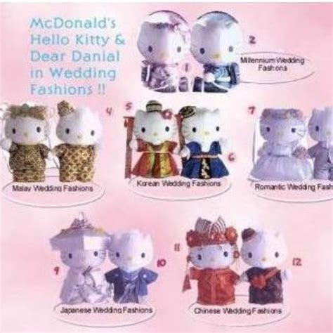 Hello kitty Macdonald Wedding collection(complete set