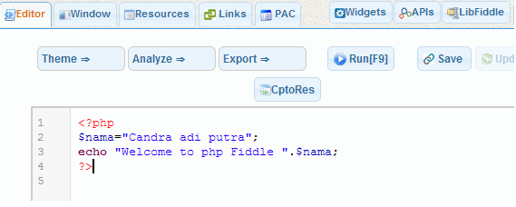 php fiddle