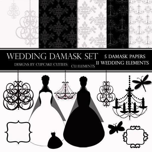 black damask clip art Free