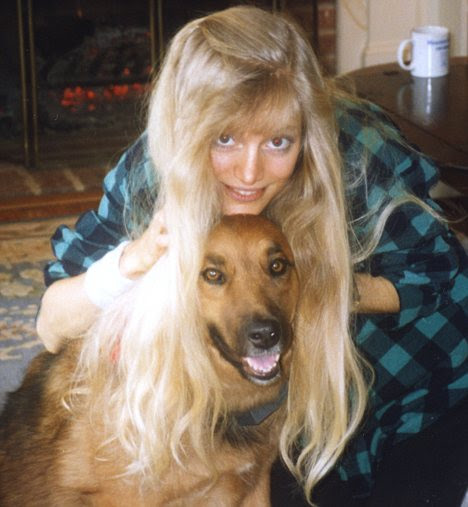 Pet crazy: Kim with her dog, Beau