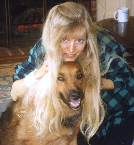 Pet crazy: Kim with her dog, Beau