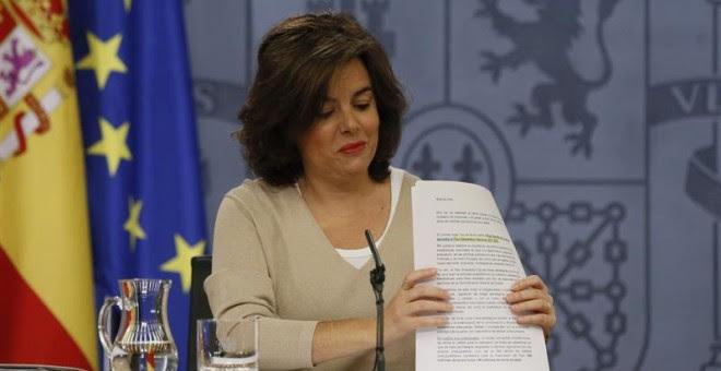 La vicepresidenta, Soraya Saénz de Santamaría.- EFE