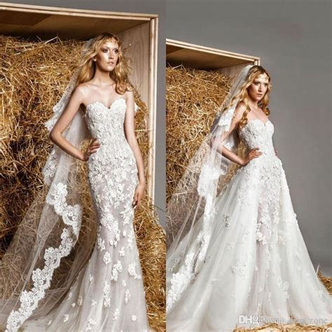 Modest Zuhair Murad Corset Wedding Dresses With Detachable