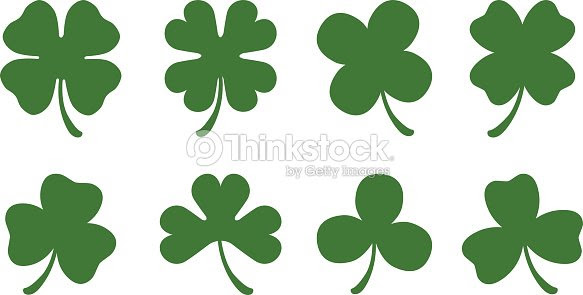 Four And Three Leaf Clovers Vector Art Thinkstock