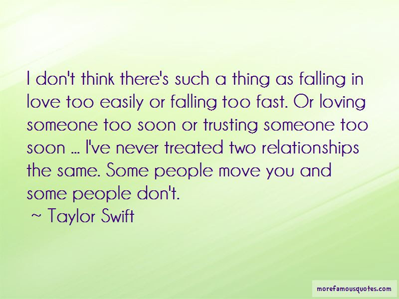 Quotes About Falling Too Fast Top 6 Falling Too Fast Quotes From