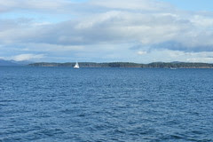 sailing by Sidney Spit