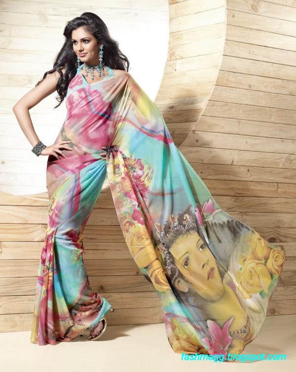 Printed-Saree-Indian-Pakistani-Beautiful-New-Fashionable-Sari-Collection-2013-