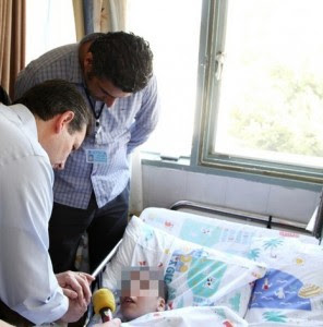 Syria opposition official visits Sieff Hospital in Safed Israel. Photo: Sieff Hospital