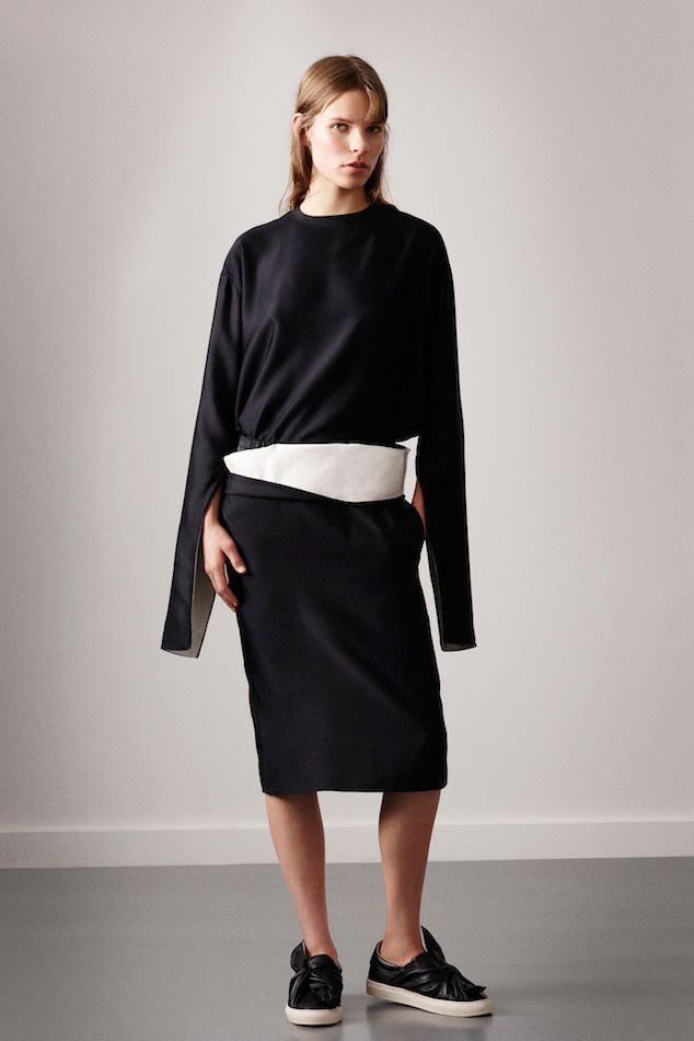 Le Fashion Blog Ports 1961 FW 2015 Minimal Sporty Long Sleeve Top Black White Skirt Leather Tie Bow Slip On Sneakers photo Le-Fashion-Blog-Ports-1961-FW-2015-Minimal-Sporty-Long-Sleeve-Top-Black-White-Skirt-Leather-Tie-Bow-Slip-On-Sneakers.jpg