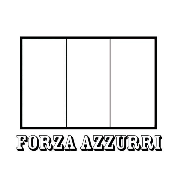 Disegno Di Bandiera Italia Forza Azzurri Da Colorare Per Bambini