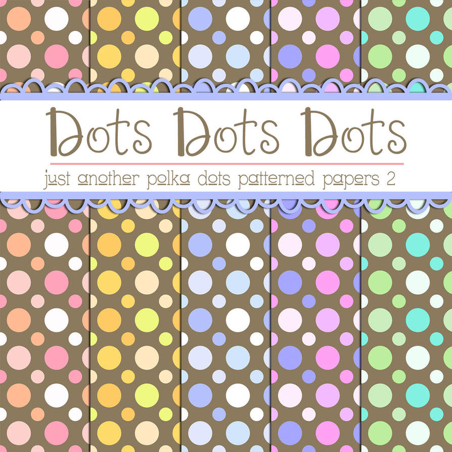 Free Polka Dots Patterned Papers 2 by TeacherYanie