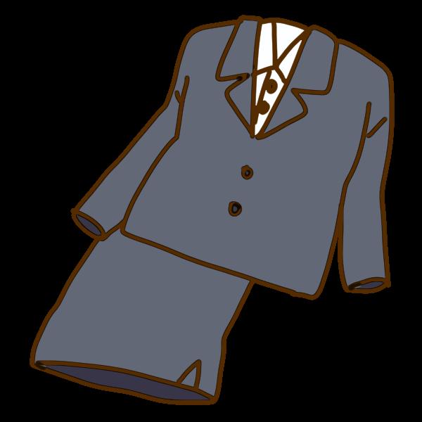 スーツのイラスト かわいいフリー素材が無料のイラストレイン