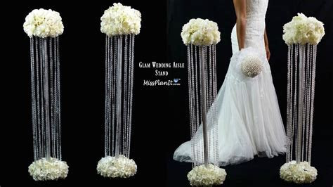 DIY Glam Aisle Wedding Ceremony Decorations   Glam Aisle