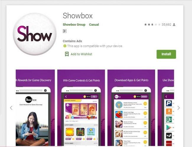 Showbox Penghasil Uang / Aplikasi Android Penghasil Uang ...