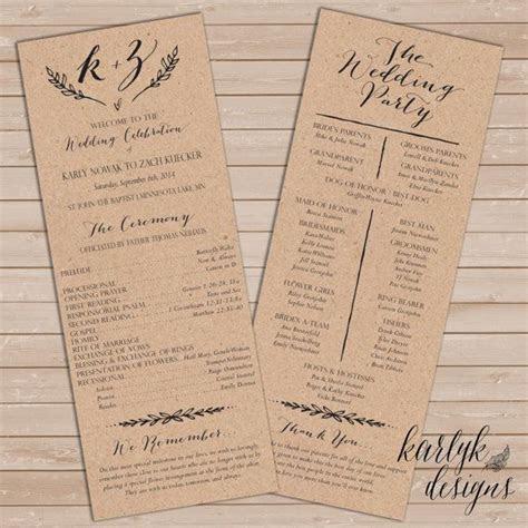 Wedding Program Template, Wedding Program Printable
