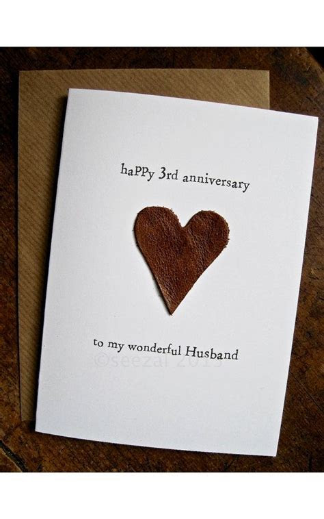 3rd Wedding Anniversary Card HUSBAND Traditional gift