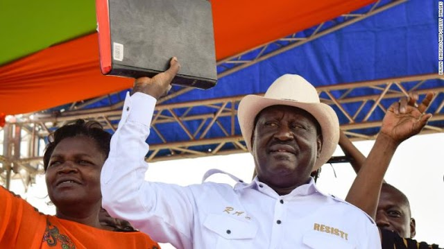 Opposition Leader, Raila Odinga, Swears Himself In As Kenya 'President'