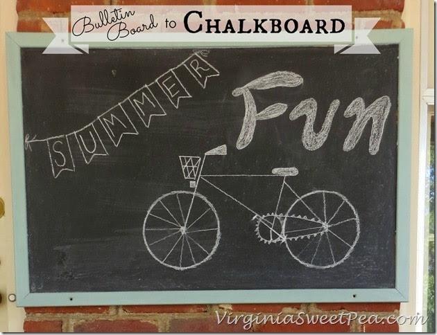 Bulletin Board to Chalkboard by Sweet Pea