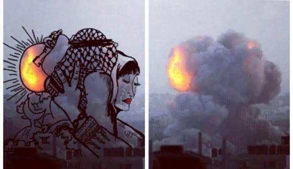 gaza pinturas bombardeos