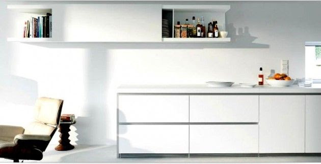 Diseños de Cocinas Blancas 2 Atractivos Diseños de Cocinas Blancas