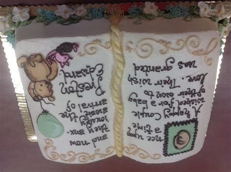 Baby Shower Open Book style cake ? Dolce & Biscotti