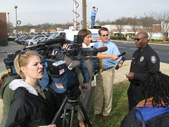 Media Scrum outside Old Navy Shooting