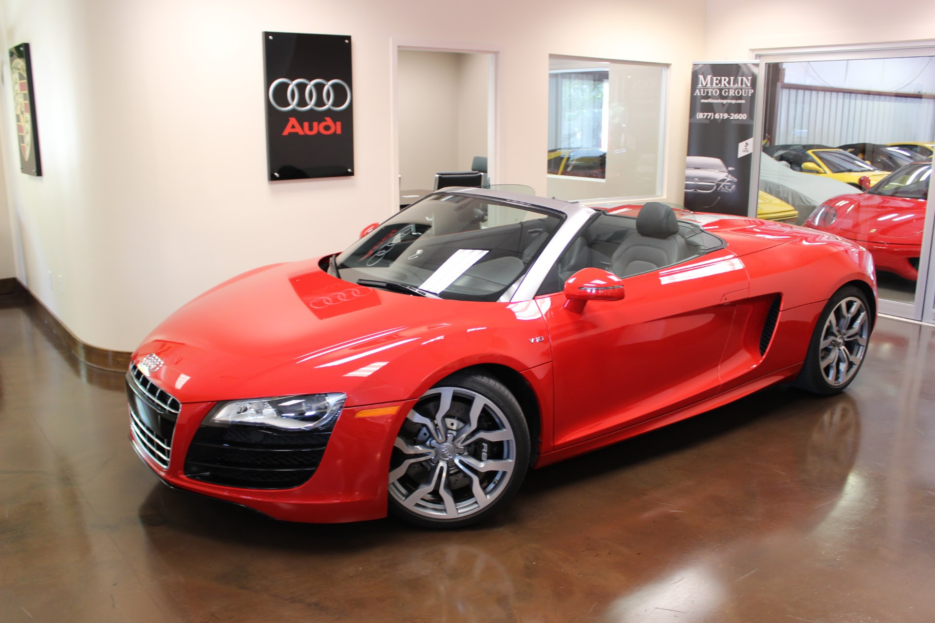 2012 Audi R8 6997 Miles Brilliant Red Convertible V10 5 2l