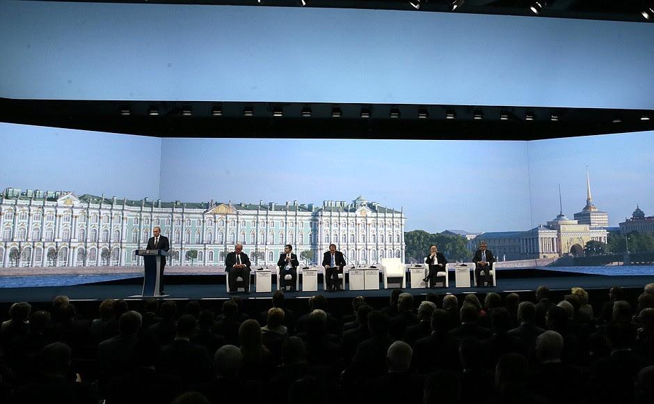 Speech atthe19th St Petersburg International Economic Forum's plenary session.
