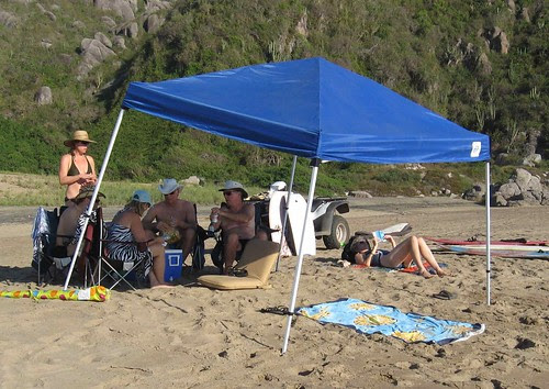 Beach camp at Playa Chica