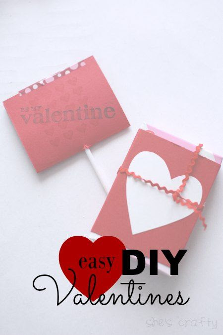 easy DIY valentines hand outs, valentine cards
