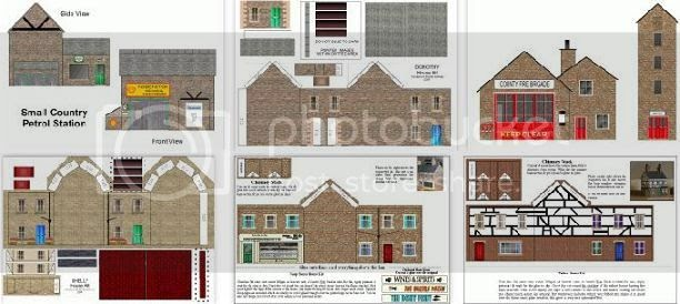 Crazy image intended for free printable model railway buildings