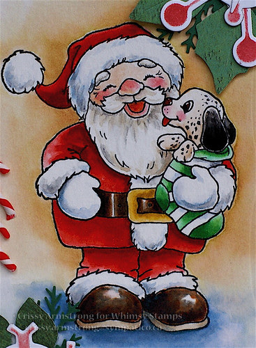 Santa and pup close
