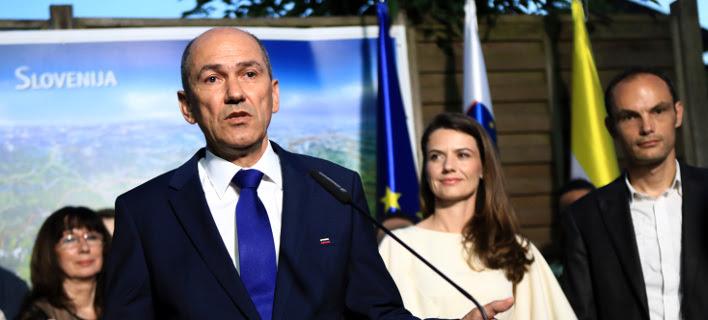 O νικητής των εκλογών στη Σλοβενία, Γιάνεζ Γιάνσα (Φωτογραφία: ΑΡ)