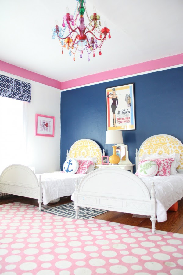 """PHOEBE'S ROOM - Photo taken by John Petersik of Young House Love for our HOUSE CRASH and published in the book """"DECORATE FEARLESSLY"""" by Susanna Salk."""