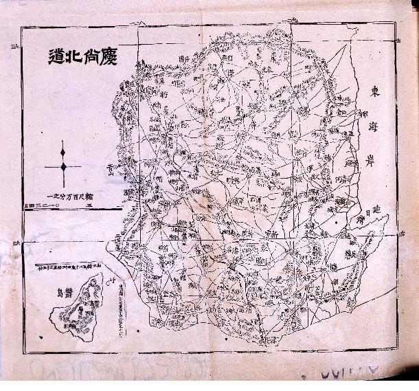 1907 - Daehan Sinjiji Map - Gyeongsangbukdo