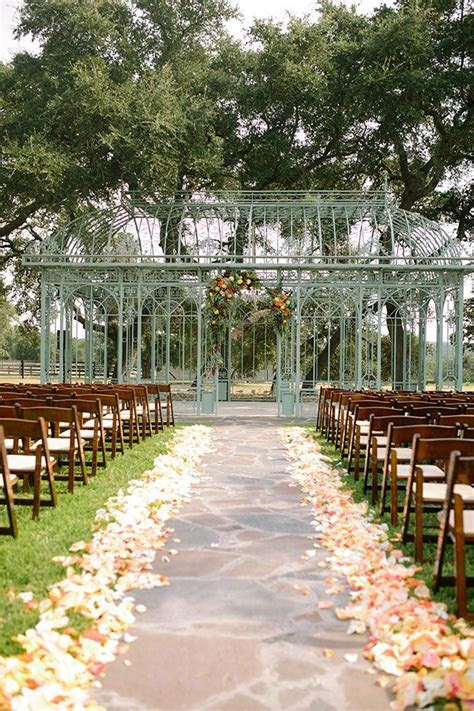 Fall Outdoor Conservatory Wedding Ma Maison Texas